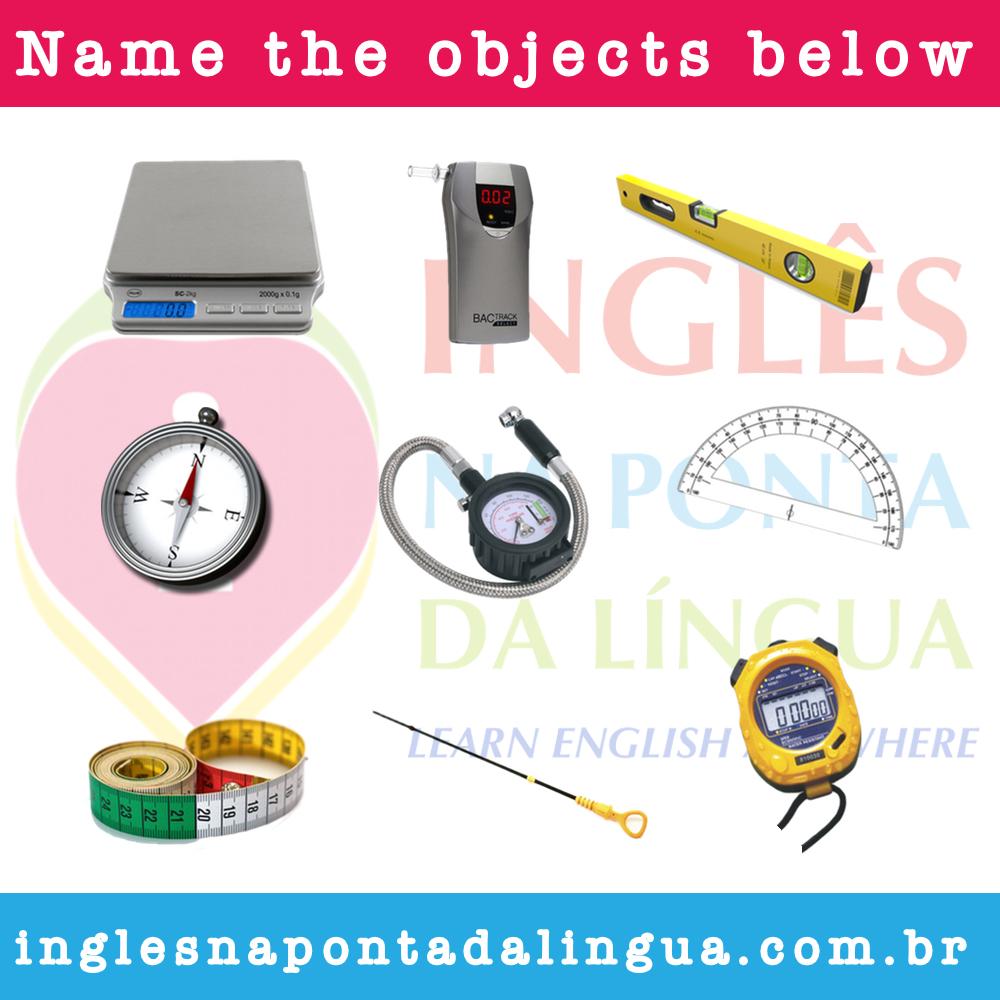 instrumentos e aparelhos de medida em inglês